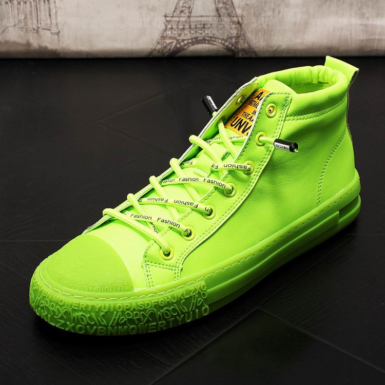 Errfc Hot Selling Men Green Leisure High Top Fashion Designer Round Toe Lace Up Younger Hip Hop Shoes For Man Trending Casual 43 Men S Casual Shoes Aliexpress