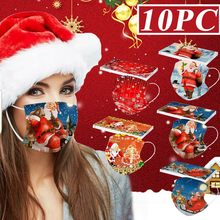 Mascarilla desechable de Navidad para adultos, máscara facial de seguridad con brillos, protección facial de moda, nueva
