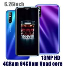 Оригинальный M21 мобильный телефон 4G Оперативная память 64G Встроенная память 6,26 дюймов капли воды смартфонов на базе Android 13MP распознавание ли...