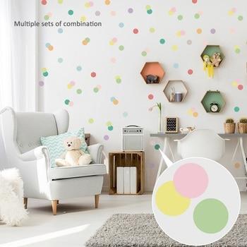 Pegatinas de pared de puntos multicolores para Bar DIY, decoración de vinilo para habitación de niños, pegatina artística para dormitorio, oficina, decoración del hogar