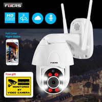 FUERS caméra IP sans fil extérieure IP66 étanche WIFI 1080 p vitesse PTZ caméra H.265 + APP contrôle Vision nocturne détection de mouvement