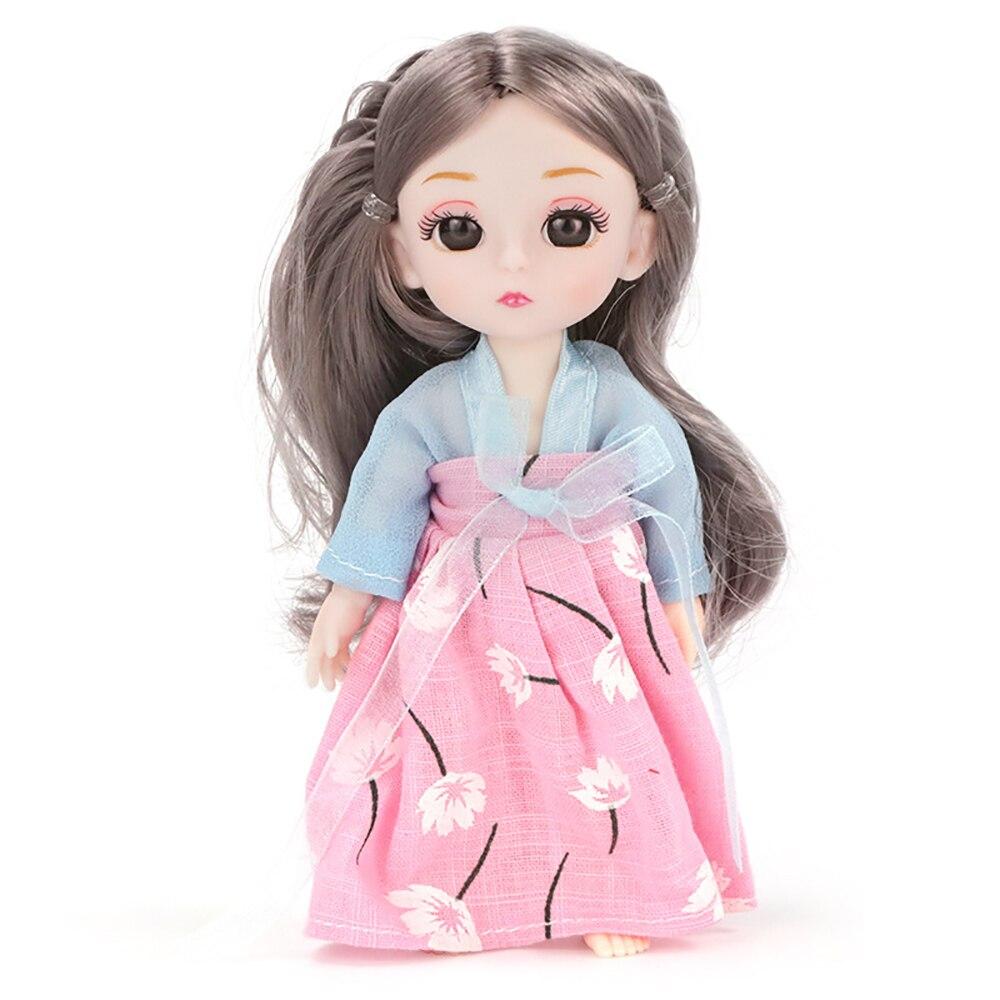 Mini 16 cm emular bonito boneca mobilidade articular boneca artesanal bom presente de aniversário artesanal brinquedos requintados para crianças