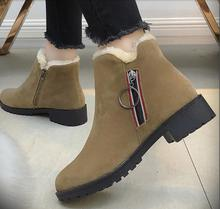 British style new women's ankle boots fashion with fluffy skinny boots cold winter ladies snow boots super warm botas mujer bimuduiyu new arrival fashion handmade super warm autumnwinter men shoes casual british style ankle boots wipe color snow boots