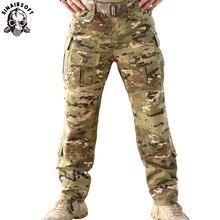 Tru 1/4 mcaジップスーツリップストップカエルマルチカムG3 戦闘パンツ乾燥 65/35 ポリ綿caza狩猟服の戦術軍事狙撃