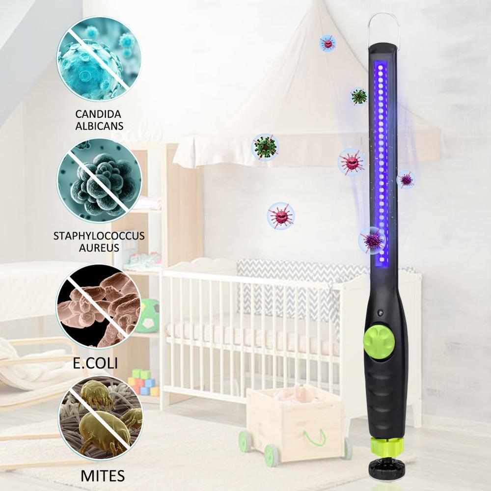 30LED Handheld Ultraviolet Sterilizer Lamp Disinfection Lamp UV Sterilizer Portable UV Germicidal Rod Bactericidal Lights Home