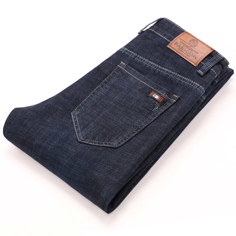 Male Slim Fit Jeans Trousers Men Pants Jean Homme Denim Men'S Casual Pant Business Moda Masculina Stretch Straight Print