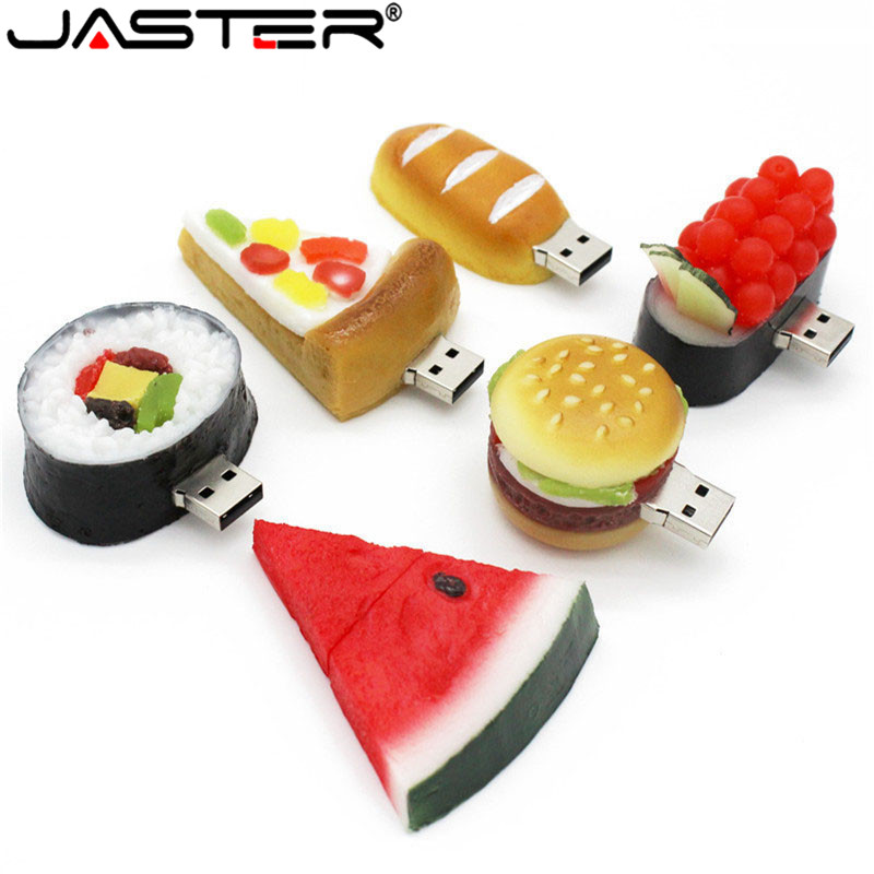 Kdata Hambugar Burger Food Series Usb Flash Drive Creative Sushi Pendrive Pen Drive 4gb 8gb 16gb 32gb Memoria Usb Gift Toy