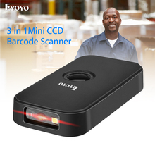 Eyoyo EY-009C Barcode Scanner CCD 2.4G Pocket BT Wired 3-in-1 Connection Modes Decoding Capability Mini Barcode Scanner Wireless