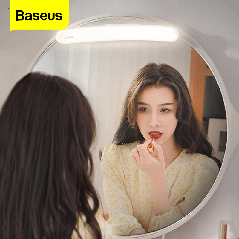 Baseus LED Mirror Light Adjustable Makeup Mirror Lamp USB Rechargeable Wall Light For Bathroom Bedroom Dressing Table Lights
