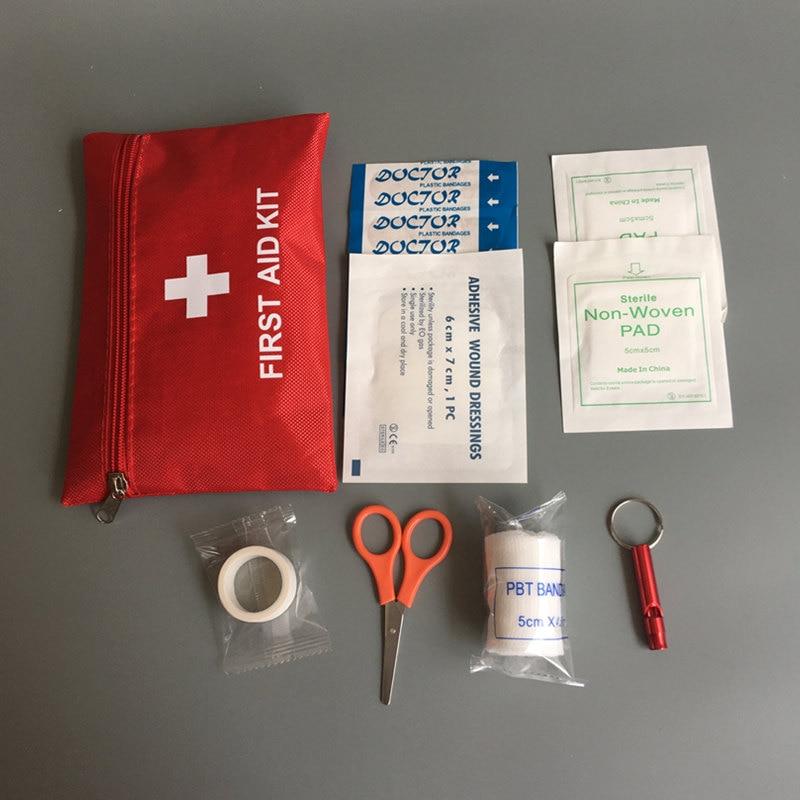 8 предметов набор для оказания первой медицинской помощи мини Семья аптечка для спорта и путешествий, выживания Наборы домашняя медицинска...