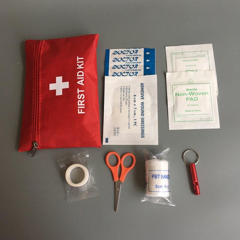 8 itens kit de emergência mini kit de primeiros socorros família esporte viagem kits de sobrevivência em casa saco médico ao ar livre carro primeiros socorros saco