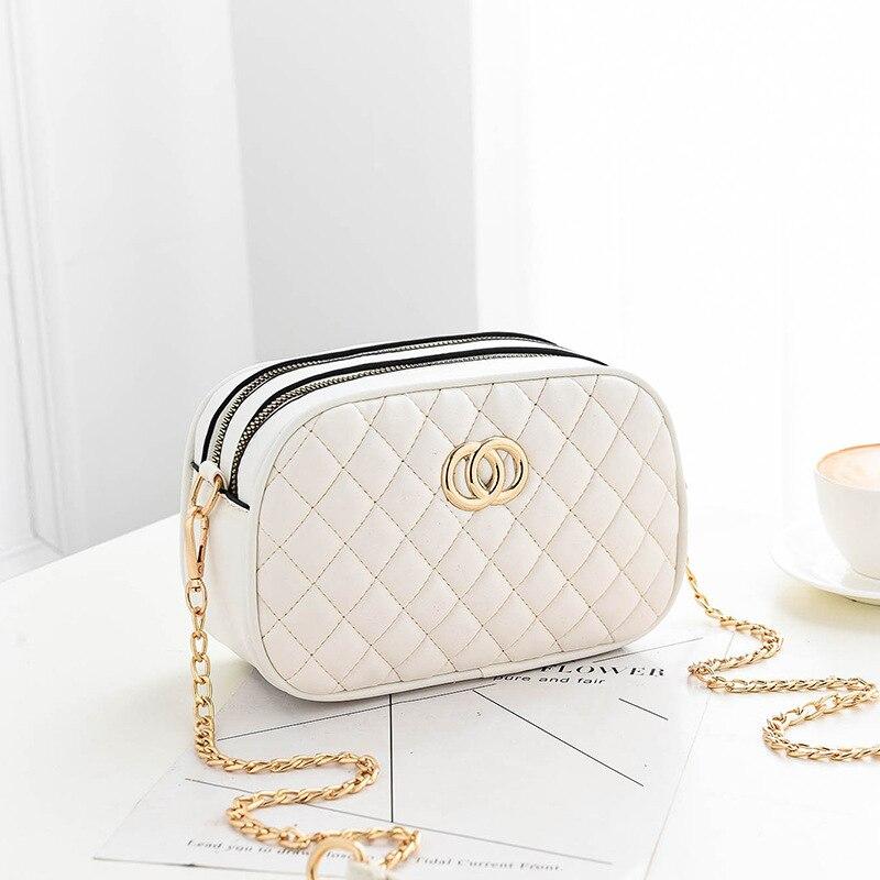 Женская сумка, весна-лето 2019, новая стильная сумка с цепочкой в Корейском стиле, модная изящная сумка через плечо с ромбовидным принтом