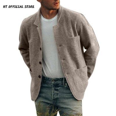 Куртка мужская однотонная, Бомбер, Повседневная Уличная одежда, ветровка, пальто в британском стиле, весна-осень
