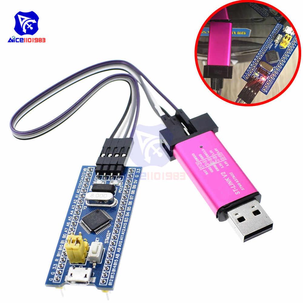 Stm32f103c8t6 braço stm32 sistema mínimo placa de desenvolvimento st-link v2 stm8 stm32 emulador módulo programador para arduino