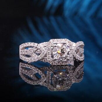 Natural 0.5 carat 14k White Gold Diamond Engagement Ring  5