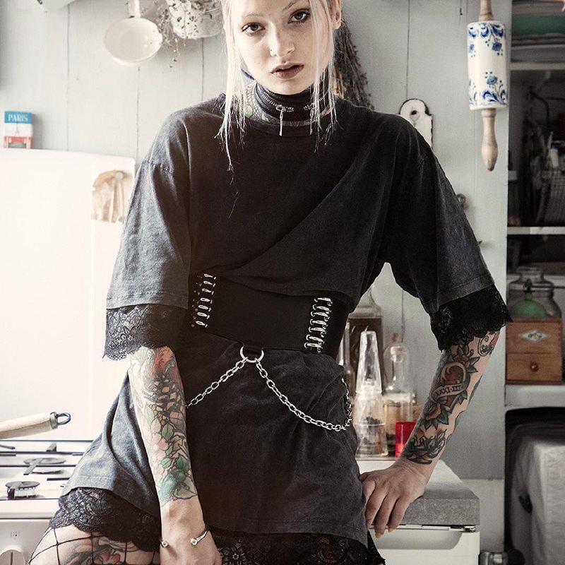 Women Corset Belt European Retro Gothic Female PU Pin Buckle Waist Belts  Ladies Clothing Accessories Female Decorations