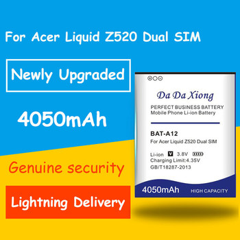 Newly Upgraded High Quality 4050mah BATA12 BAT-A12 Battery for acer liquid Z520 Dual SIM battery image