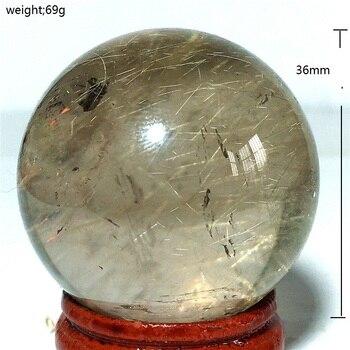 natural Golden hair crystal quartz crystal ball smelting red decorative crystal crystal chakra ball stones and crystal