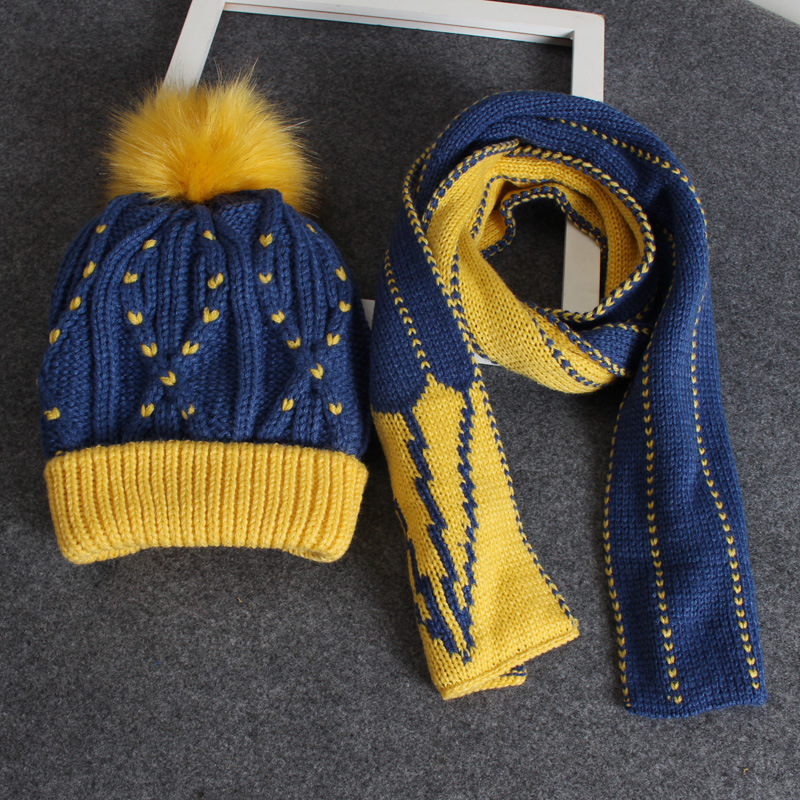 3-10 Years Old Winter Accessories For Kids Boys Girls Hats And Scarf Set Cap Set Velvet Warm Winter Knitted Hat&scarf 2 Pcs Set