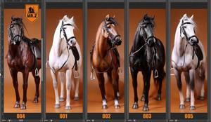 Image 2 - 1/6 soldiers figure Horse model warhorse high 33cm Birthday gift  resin model toy