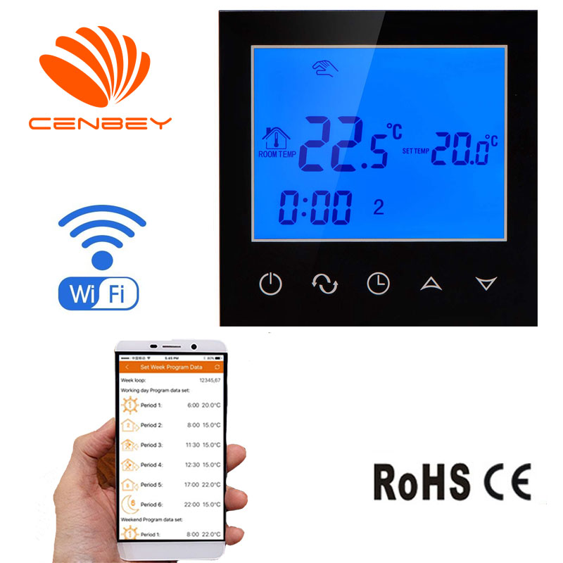 Wifi Thermostat Boiler Underfloor Heating Thermostats Smart Heating Controller Programmable Digital Room Thermostat Temperature