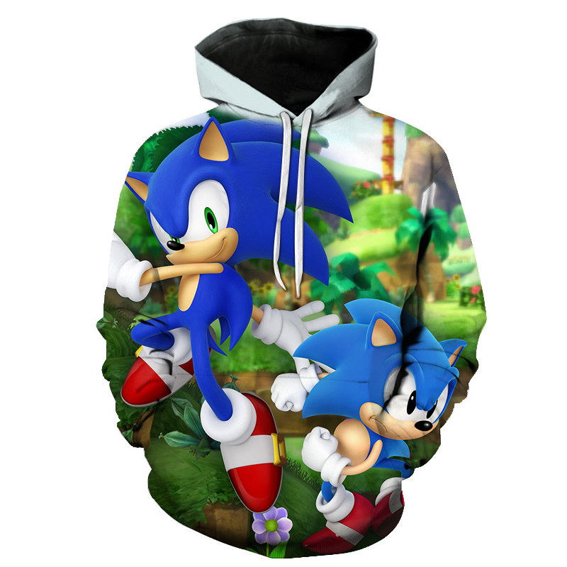 Unisex Hoodie 3d Sonic Hedgehog Printed Hooded Pullover Boys Girls Sweatshirt For Men Women Formtech Inc Com