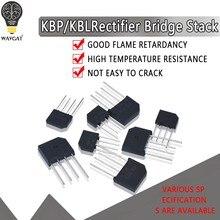 5PCS KBL406 KBL410 KBL608 KBL610 2A-6A 600V-1000V KBP206 KBP210 KBP307 KBP310 Fases Único Diodo Retificador Ponte Atacado