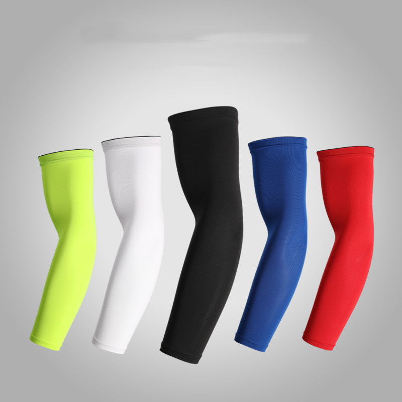 1pc Outdoor Cooling Arm Sleeves High Elastic Sun Protection Cuff Arm Warmers Sleeve For Cycling Football Running Sports