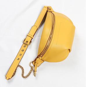 Image 3 - MAHEU Genuine leather waist bags women designer fanny pack fashion belt female lady wait pack bum bag cowskin single shouder bag