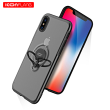 for iPhone XS Max XR Case,ICONFLANG Ring Kickstand 360 Degree Rotating Drop Protection Shock Absorption Magnetic Car Mount Case