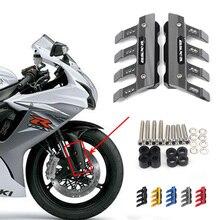 لسوزوكي GSX600 GSXR600 GSXR1000 دراجة نارية دقيق الطين الجبهة شوكة معدات الحماية الجبهة الحاجز مكافحة سقوط المنزلق الملحقات