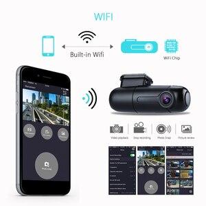 Image 4 - Blueskysea B1W داش كاميرا السيارة مزودة بجهاز تسجيل فيديو كامل HD 1080P واي فاي صغير داش كام 360 درجة تدوير وضع وقوف السيارات IMX323 لوحة سيارة مسجل