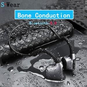 Image 1 - Bluetooth 5.0 Original headphones Bone Conduction Headsets Wireless Sports earphones Handsfree Headsets Support Drop Shipping