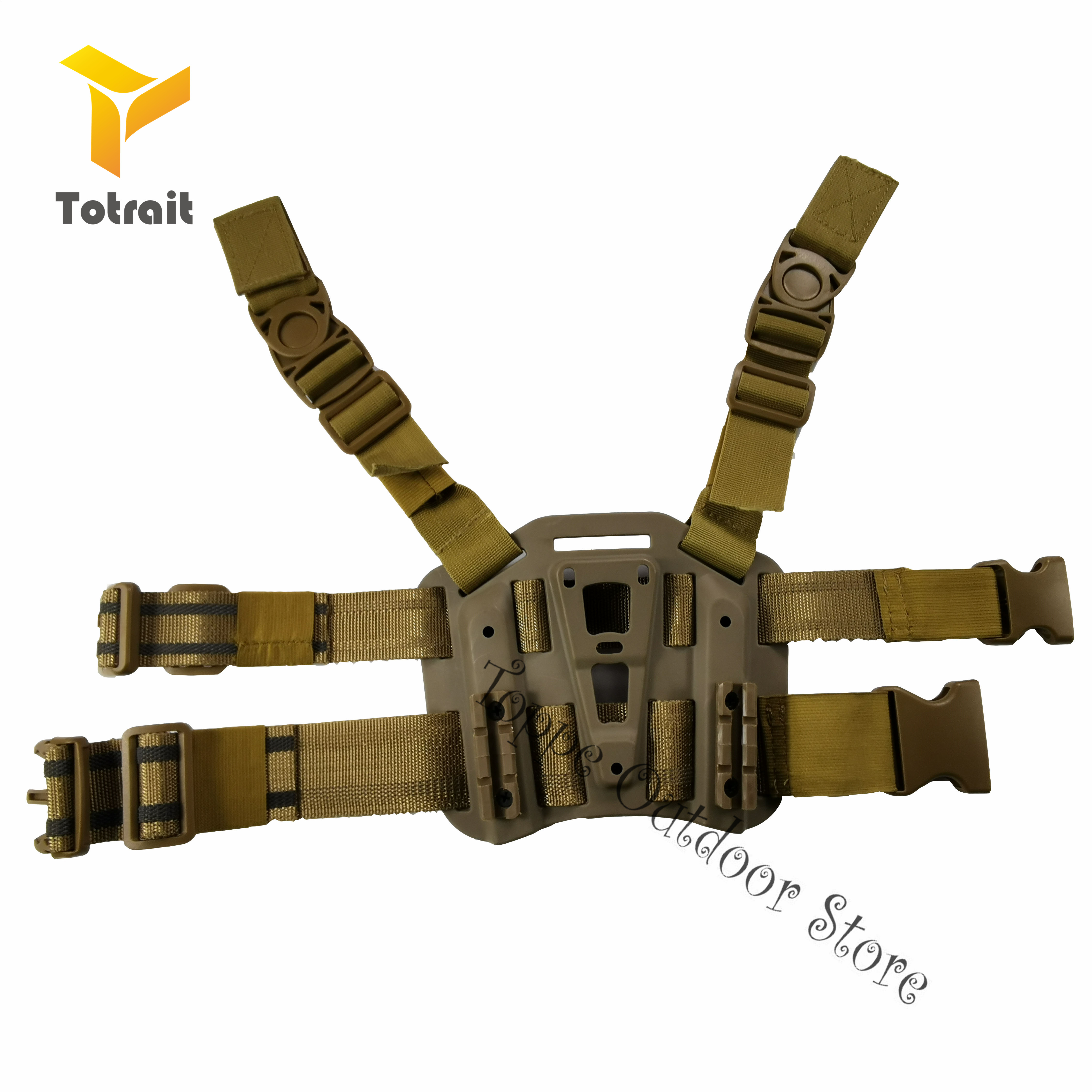 Military CQC Polymer Drop Leg Paddle Holster for Hunting USP Pistol Black// Green