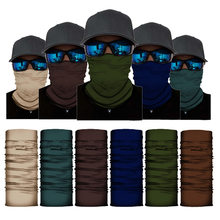 Cor sólida bandana buffs pescoço gaiter bandana homens mulheres ao ar livre sem costura balaclava multifuncional máscara cachecol headwear