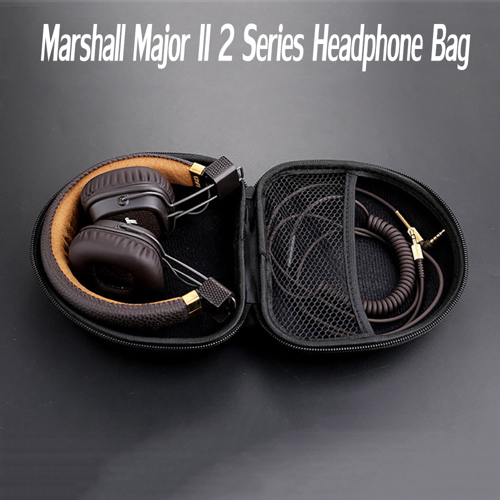 Waterproof Portable Headphones Storage Pouch Protector Box For Marshall Major II 2 Series Headphone Bag Headset Hard Case Cover