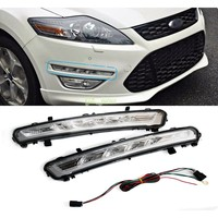 Automotive accessories For 2011 2012 2013 Ford MONDEO 2x LED DRL Driving Daytime Running Day Fog Lamp Light