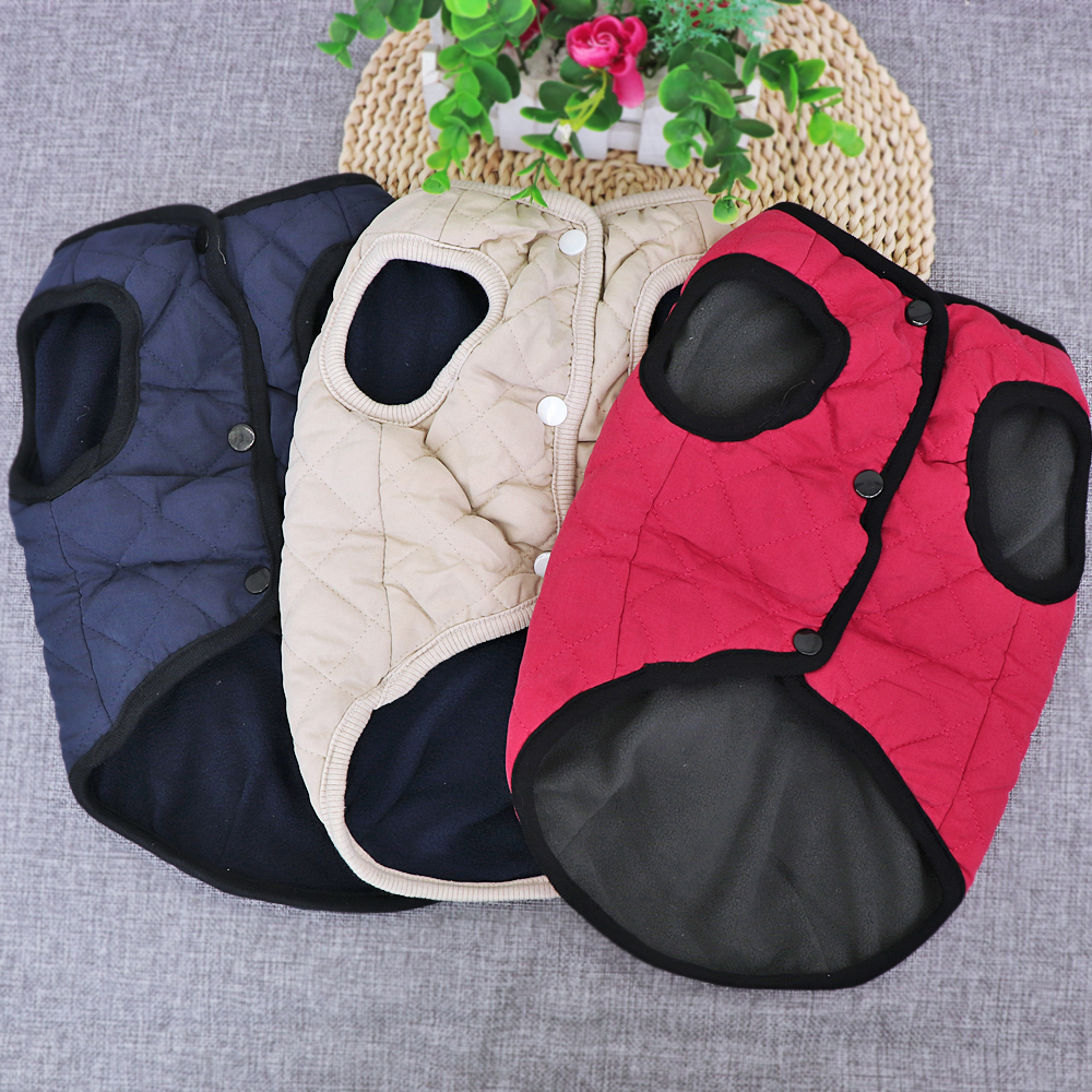 Wind-Proof Winter Dog Jacket Made with Soft Polyester material for Small/Large Dogs 2