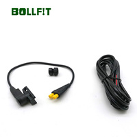 Bollfit tsdz2 6 v 램프 용 헤드 라이트 및 미등 연결 용 y 분배기가있는 새로운 속도 센서