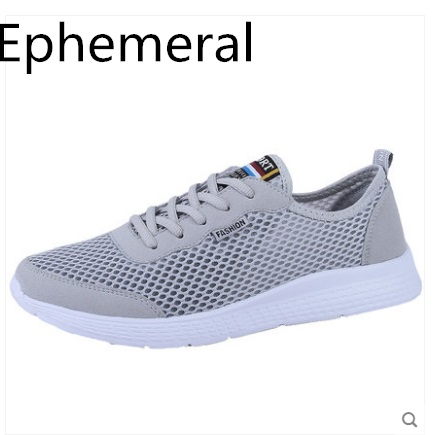 Footwear Loafers Breathable Lace-Up-Shoes Grey Black Plus-Size Summer Unisex Light Mesh