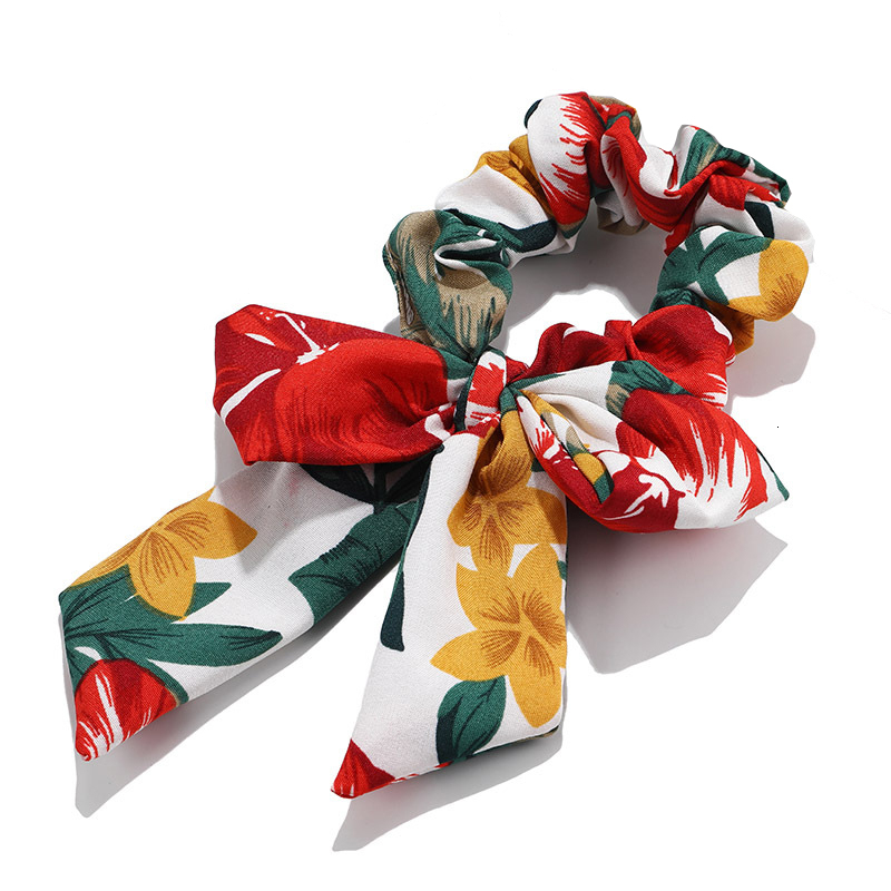 Mousseline de soie Cheveux Chouchous Femmes Mode Perle élastique pour queue de cheval Cheveux Cravate Cheveux Corde Élastiques Cheveux Accessoires couvre-chef en noeud 10