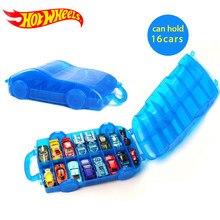 Hot Wheels – boîte de rangement Portable en plastique, pour Diecast 1/64, 16 modèles de sport, voiture, jouets éducatifs, camion, jouets garçon, cadeau