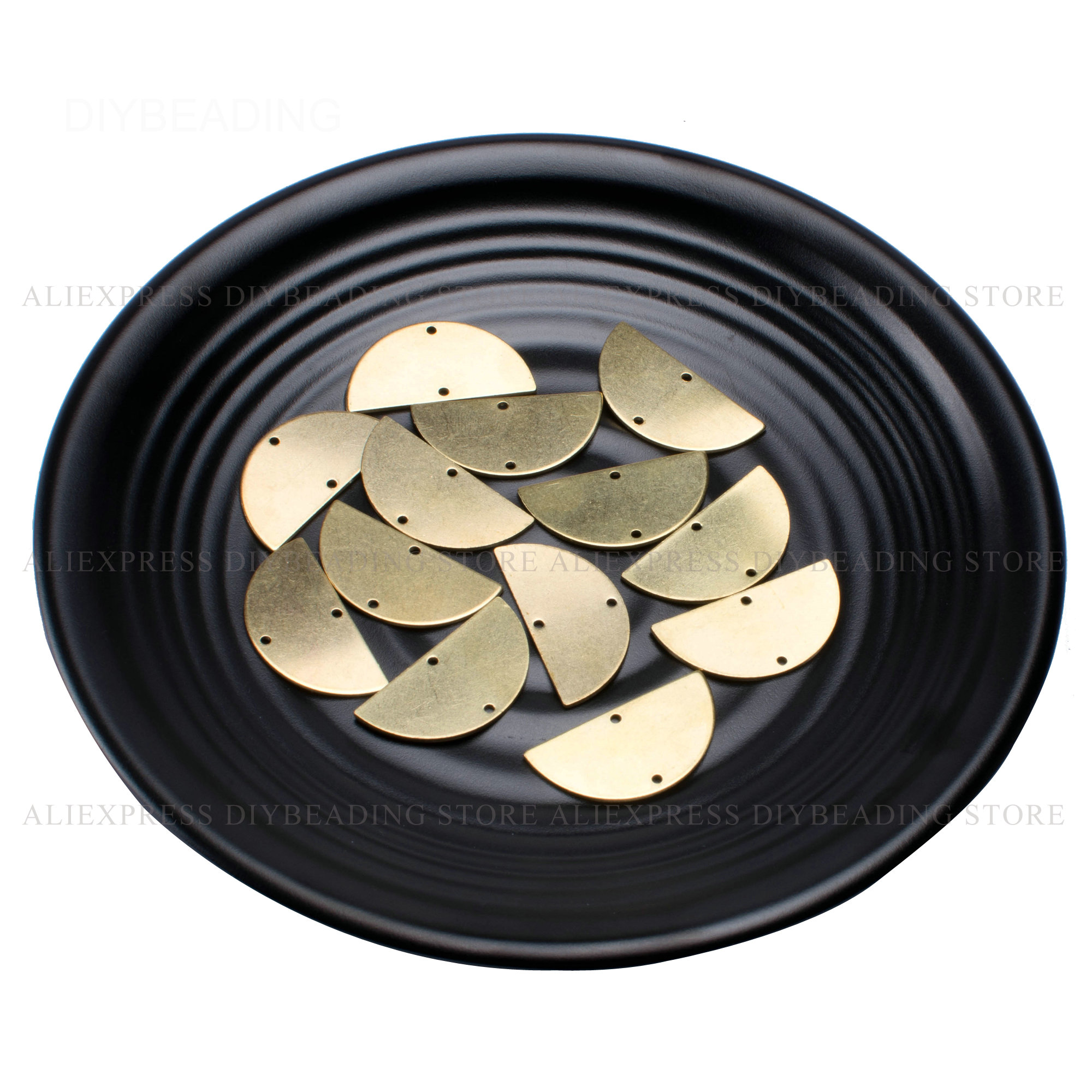 20 1000 шт Латунь половина круга очарование Поиск Оптовая гладкая простая гравировка штамповки метка полукруг металлический компонент (2 отверстия) Ювелирная фурнитура и компоненты      АлиЭкспресс