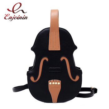 New 3 Colors Vintage Violin Design Shoulder Bag Crossbody Bag for Women 2021 Purses and Handbags Pu Leather Trendy Designer Bag 1