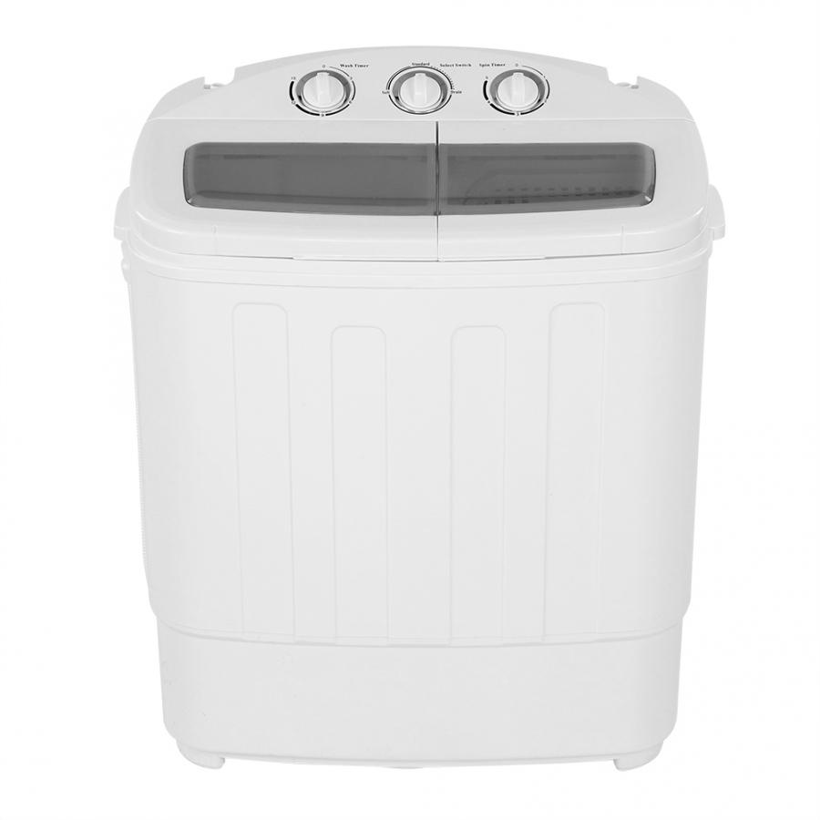 2-in-1 Clothes Washing Machine Twin Tub Washing Machine Washer With Spin-Drye Bucket Shape Laundry Clothes Washer For Home