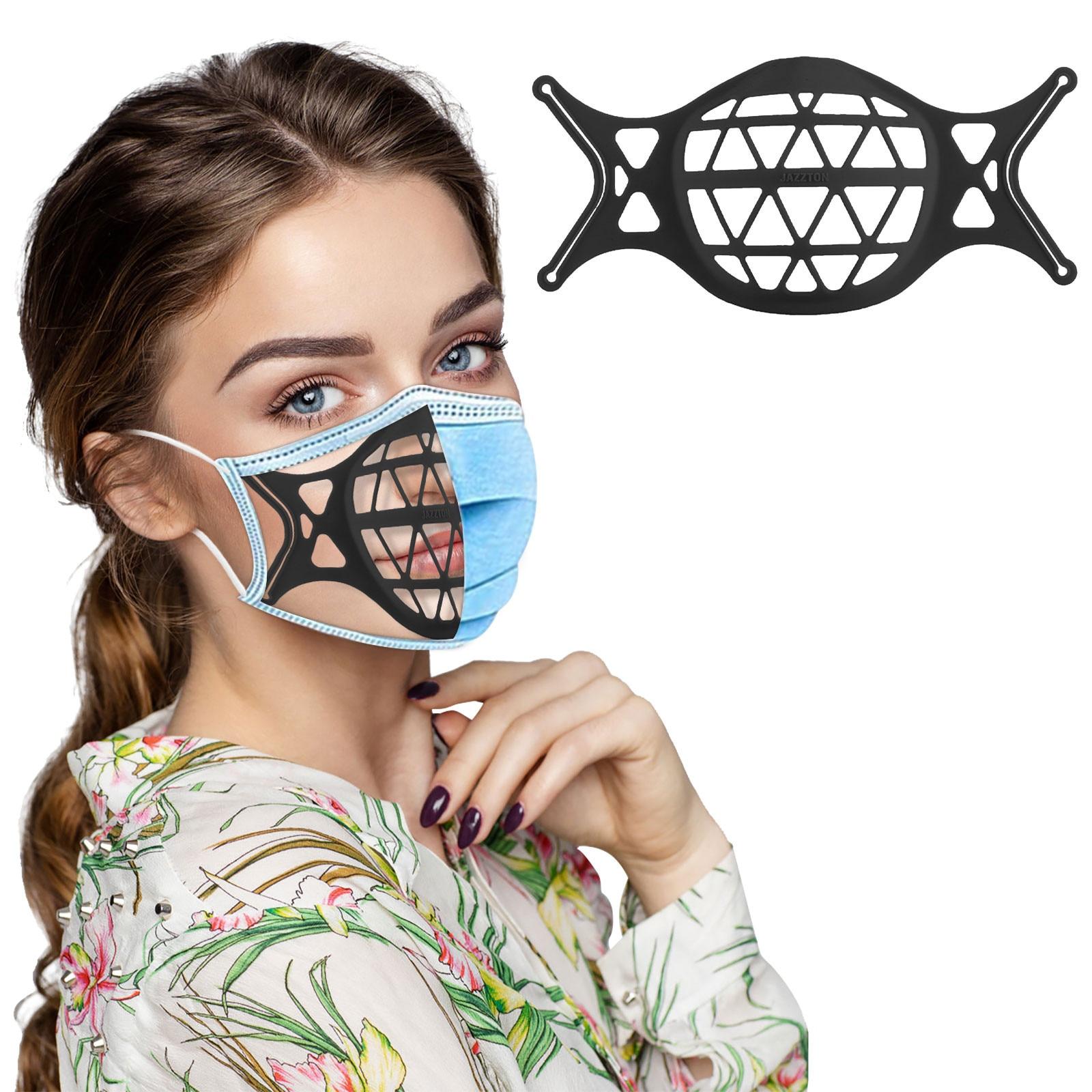 3D Face Mask Bracket Unisex Reusable Silicone Face Mask Bracket Dustproof Mask Bracket Inner Support Frame Face Cover Holder