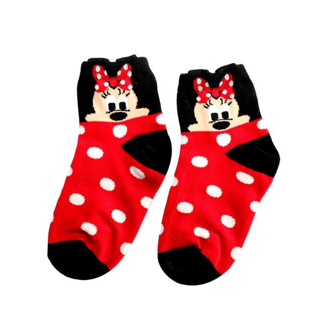 2-12Year Jacquard Mickey Minnie Comfort Warm Cotton High Quality Kids Girl Baby Socks Child Boy children Socks 5