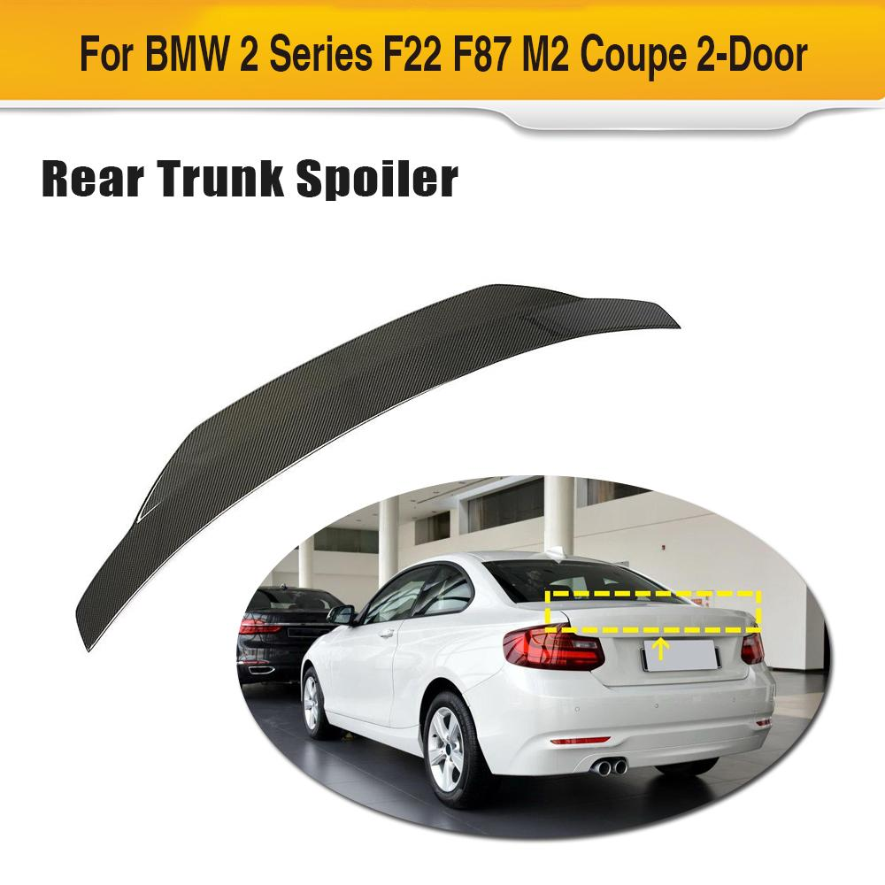Car Rear Trunk Spoiler Boot Lip Wing For BMW F22 F87 M2 2014 - 2019 Car Trunk Wing Spoiler Carbon Fiber