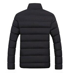 Image 2 - חורף מעיל גברים בגדי 2020 מוצק צבעים Ultra אור Parka Mens מעילי מעילי צווארון עומד בועת מעיל המשאף מעילים
