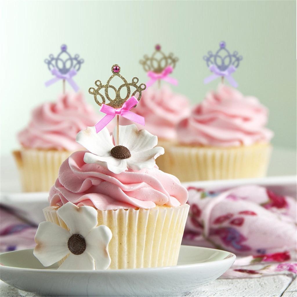 rosenice 50pz moldes moldes de papel para cupcakes magdalenas tartaletas Rosa Princesa Corona